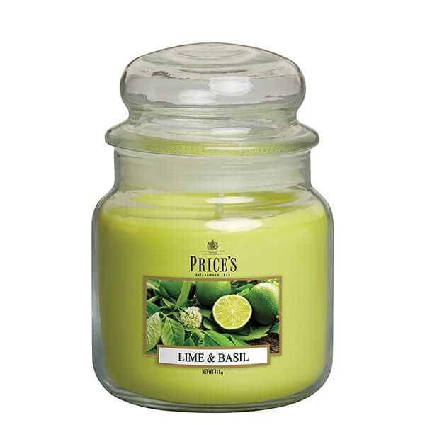 Prices Fragrance Collection Lime / Basil Medium Jar Candle