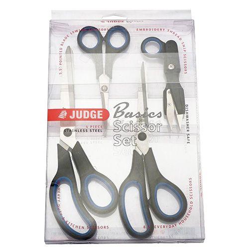 Judge Basics 4 Piece Scissor Set