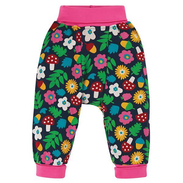 Frugi Organic Indigo Lost Words Parsnip Pants Size 0-3 Months