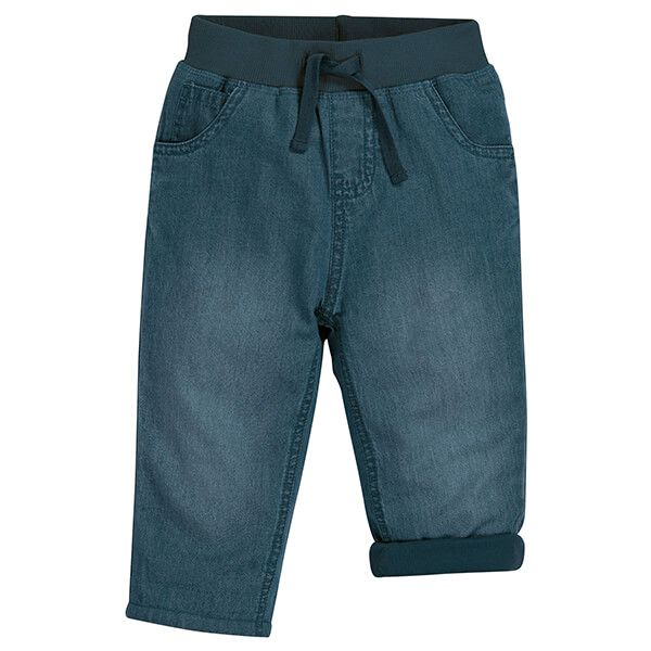 Frugi Organic Chambray Comfy Lined Jeans Size 12-18 Months