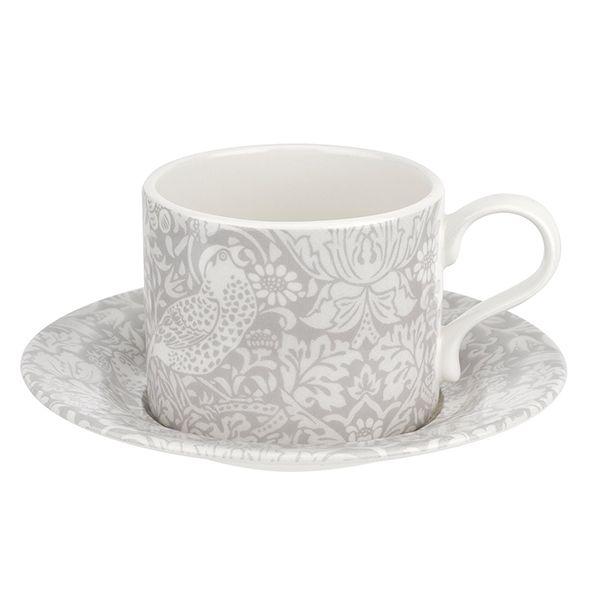 Morris & Co Strawberry Thief 10oz Tea Cup and Saucer