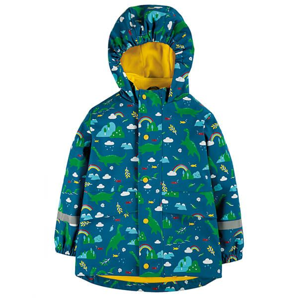 Frugi Organic Loch Blue Nessie Puddle Buster Coat Size 4-5yrs
