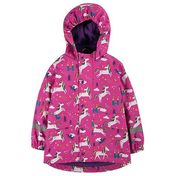 Frugi Organic Unicorn Puddles Puddle Buster Coat 3-4 Years