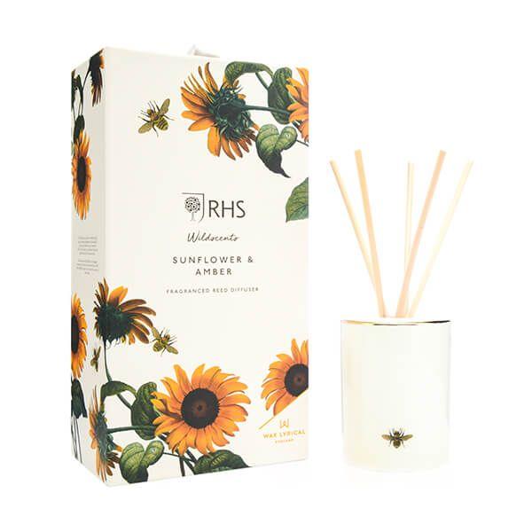 Wax Lyrical RHS Wildscents Sunflower & Amber Reed Diffuser 250ml