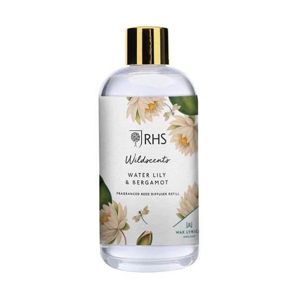 Wax Lyrical RHS Wildscents Water Lily & Bergamot Reed Diffuser Refill 200ml
