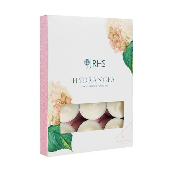 Wax Lyrical RHS Fragrant Garden Hydrangea Tealights Pack of 12