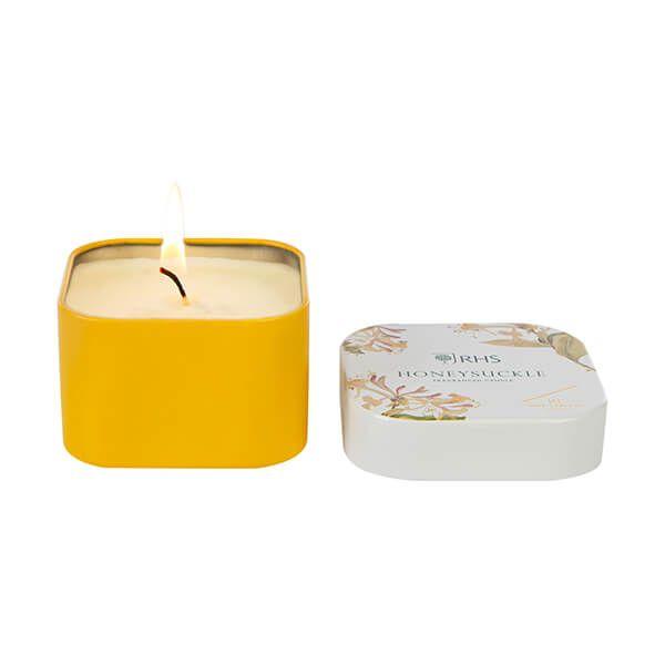Wax Lyrical RHS Fragrant Garden Honeysuckle Candle Tin