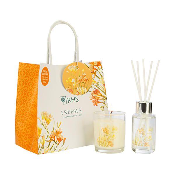 Wax Lyrical RHS Fragrant Garden Freesia Candle & Reed Diffuser Gift Set