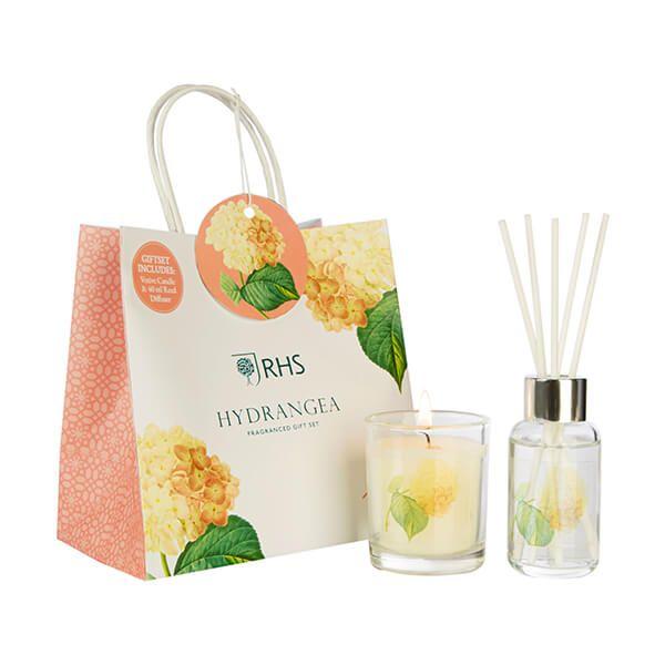 Wax Lyrical RHS Fragrant Garden Hydrangea Candle & Reed Diffuser Gift Set
