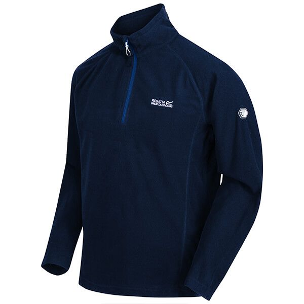 Regatta Men's Montes Lightweight Half Zip Mini Stripe Fleece Nautical Blue