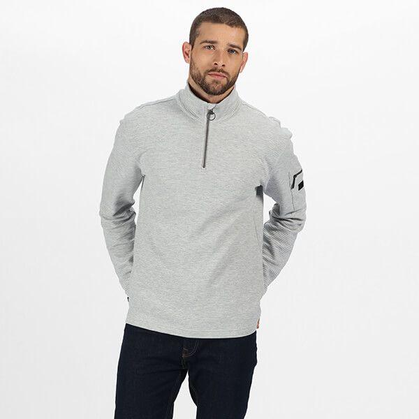 Regatta Men's Tavior Half Zip Coolweave Fleece Light Steel Size L
