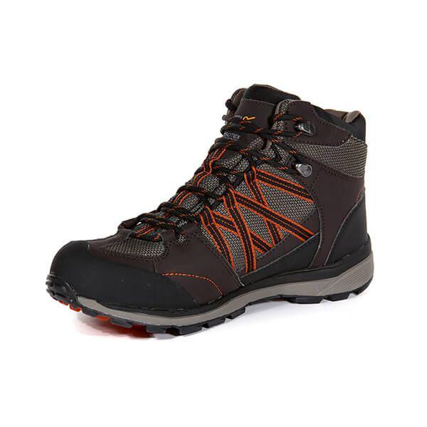 Regatta Men's Samaris II Mid Walking Boots Peat Gold Flame