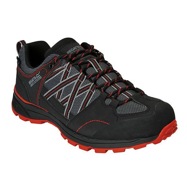 Regatta Men's Samaris II Walking Shoes Granite Cajun Orange