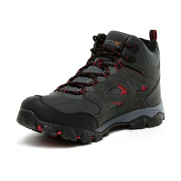 Regatta Men's Holcombe IEP Mid Walking Boots Ash Rio Red