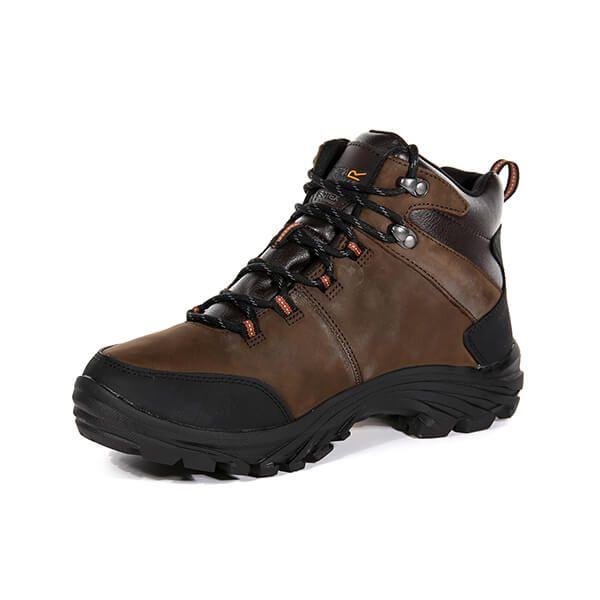Regatta Men's Burrell Leather Vibram Walking Boots Peat