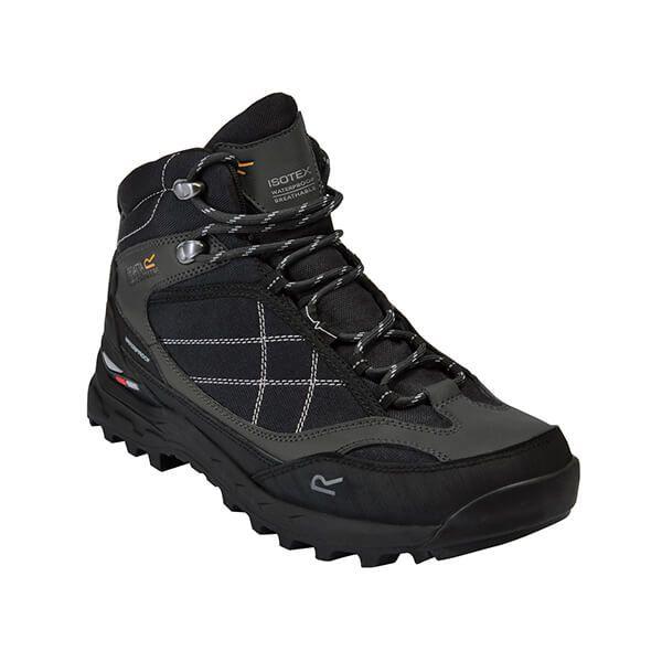 Regatta Men's Samaris Pro Mid Waterproof Walking Boots Black Briar