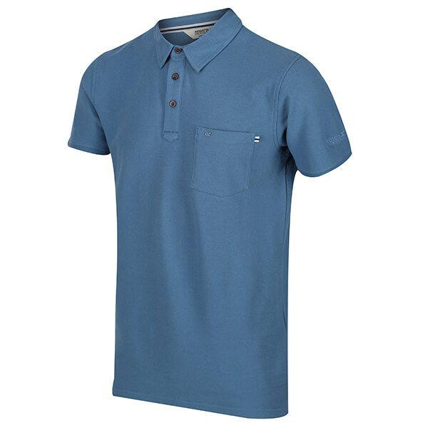 Regatta Men's Barley Coolweave Polo Shirt Stellar Blue Size XXXL