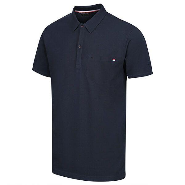 Regatta Men's Barley Coolweave Polo Shirt Navy