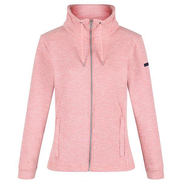 Regatta Women's Olena Full Zip Snood Collar Fleece Chalk Blush