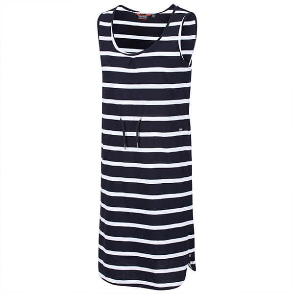 Regatta Women's Felixia Striped Sleeveless Dress Navy