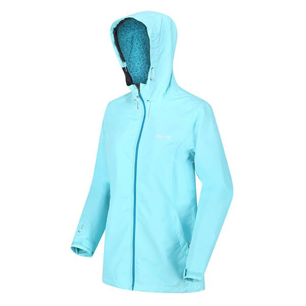 Regatta Women's Hamara III Lightweight Waterproof Hooded Walking Jacket Cool Aqua