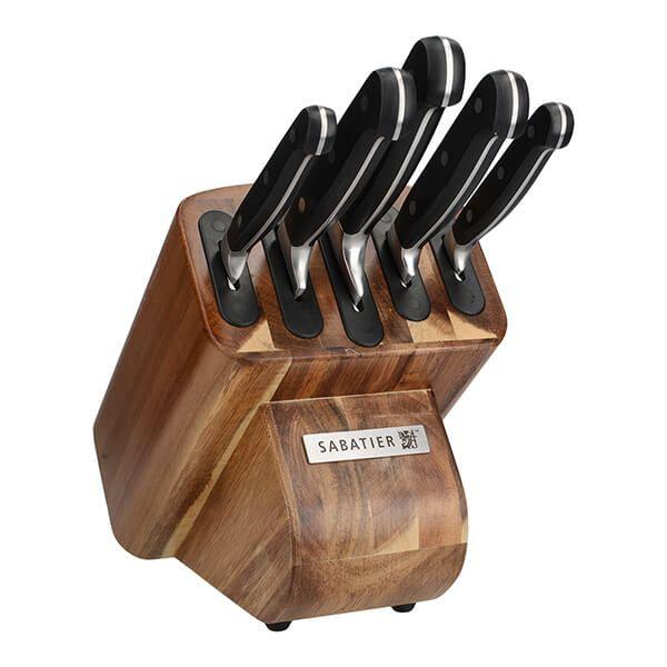 Sabatier Five Piece Knife Set With Acacia Wood Storage Block