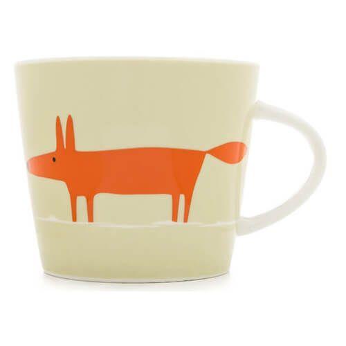 Scion Living Mr Fox Neutral & Orange 350ml Mug