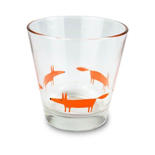 Scion Living Mr Fox Orange Glass Tumbler