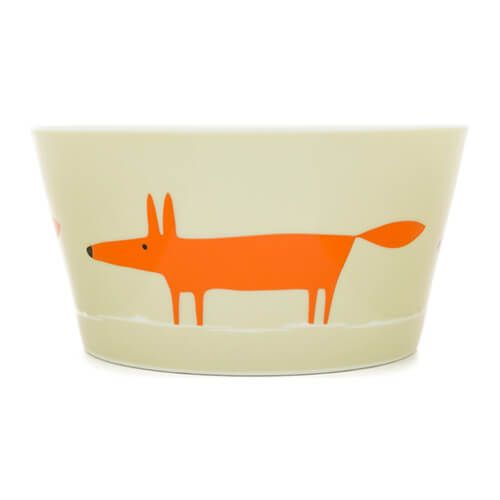 Scion Living Mr Fox Neutral & Orange Bowl