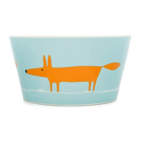 Scion Living Mr Fox Duck Egg & Orange Bowl