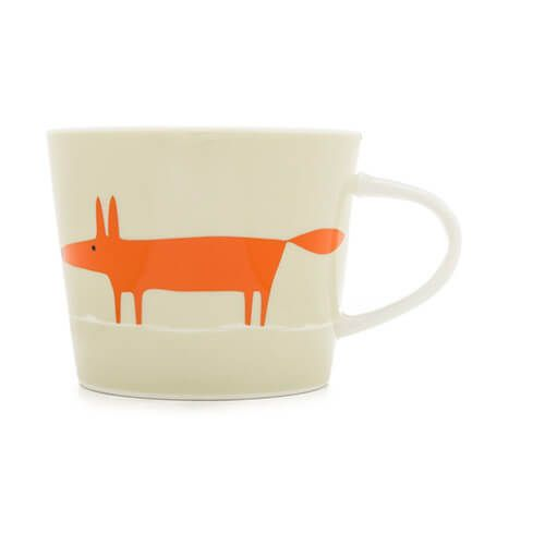 Scion Living Mr Fox Neutral & Orange 250ml Mini Mug
