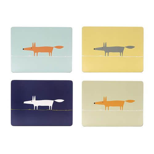 Scion Living Mr Fox Set Of 4 Placemats