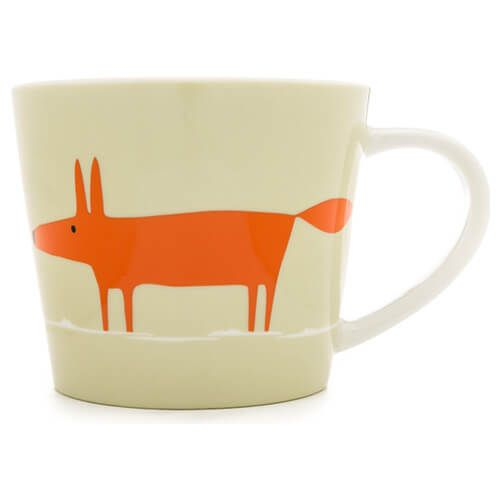 Scion Living Mr Fox Neutral & Orange 525ml Large Mug