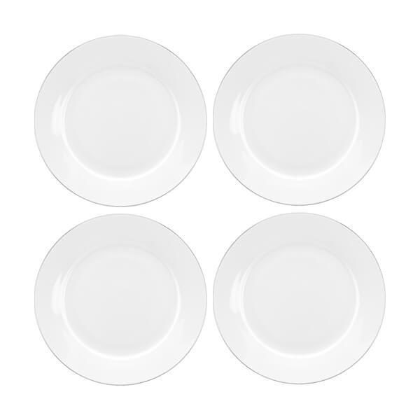 Royal Worcester Serendipity Platinum Set of 4 Side Plates