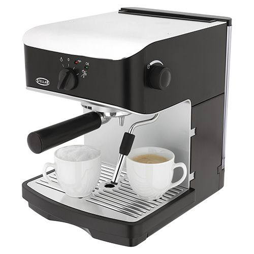 Stellar Espresso & Cappuccino Coffee Maker with Milk Frother
