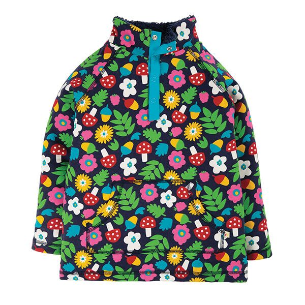 Frugi Organic Indigo Lost Words Snuggle Fleece Size 4-5 Years