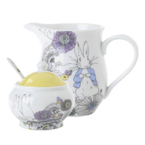 Peter Rabbit Contemporary Creamer and Sugar Bowl Set