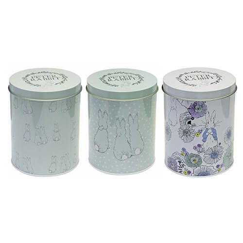 Peter Rabbit Contemporary Set Of Three Storage Tin