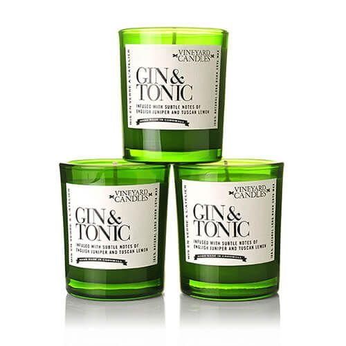 Vineyard Case Of 3 Gin & Tonic Shot Candles