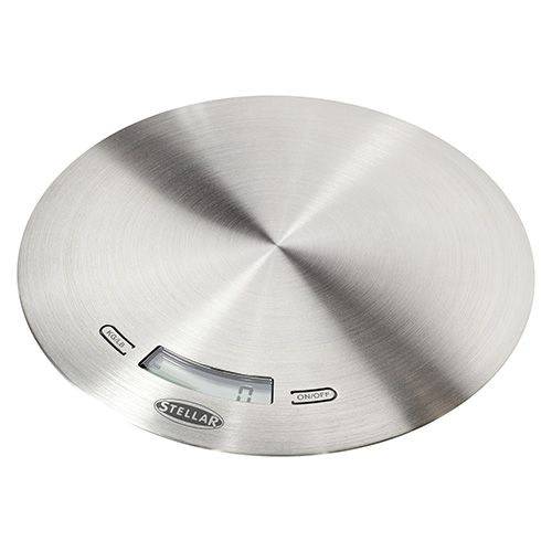 Stellar Brushed Stainless Steel Slimline Digital Scale