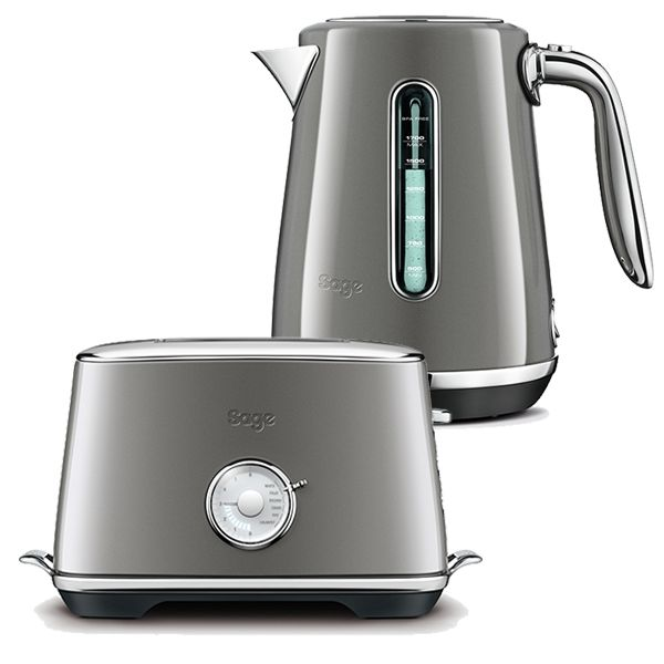 Sage Kettle & Toaster Set Select Luxe Smoked Hickory