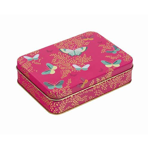 Sara Miller Pink Butterfly Small Tin