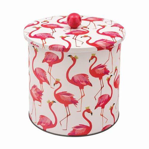 Sara Miller Flamingo Biscuit Barrel