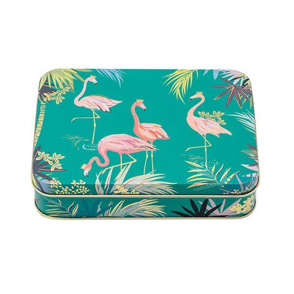 Sara Miller Flamingo Small Rectangular Tin