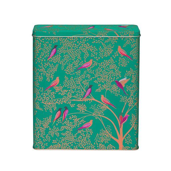 Sara Miller Green Bird Cereal Tin