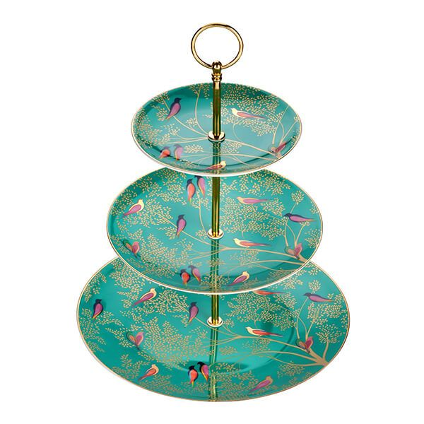 Sara Miller Chelsea Collection 3 Tier Cake Stand