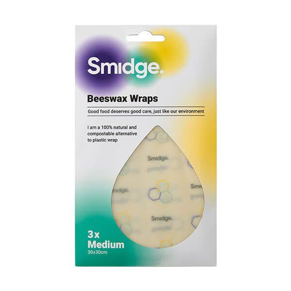 Smidge Beeswax Wrap Medium 3 Piece Set