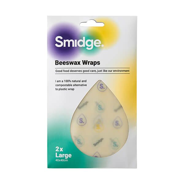 Smidge Beeswax Wrap Large 2 Piece Set