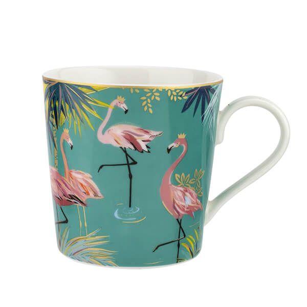 Sara Miller Tahiti Flamingo Mug