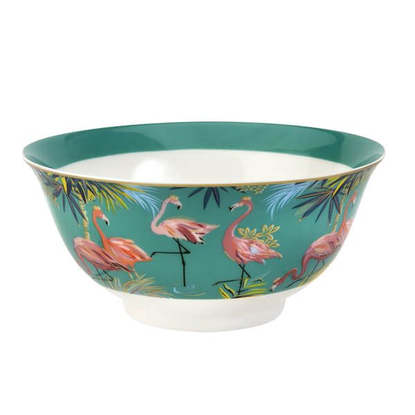 Sara Miller Tahiti Flamingo Candy Bowl